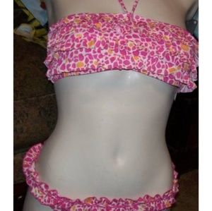 Raisins Pink Print Ruffle Bikini Set D1189 *NEW*